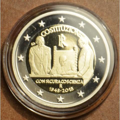 2 Euro Taliansko 2018 - 70. výročie talianskej ústavy (Proof)