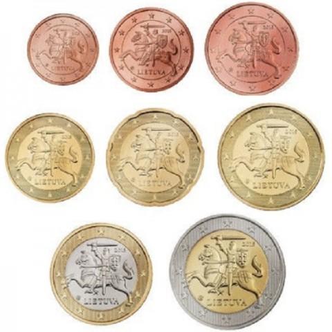 Sada 8 euromincí Litva 2015 (UNC)