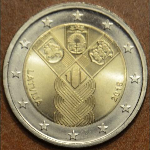2 Euro Lotyšsko 2018 - 100 rokov nezávislosti pobaltských krajín (UNC)
