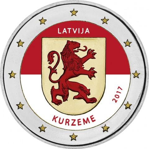 2 Euro Latvia 2017 - Kurzeme (colored UNC)