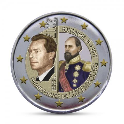 2 Euro Luxembourg 2017 - Grand Duke Guillaume III (colored UNC)