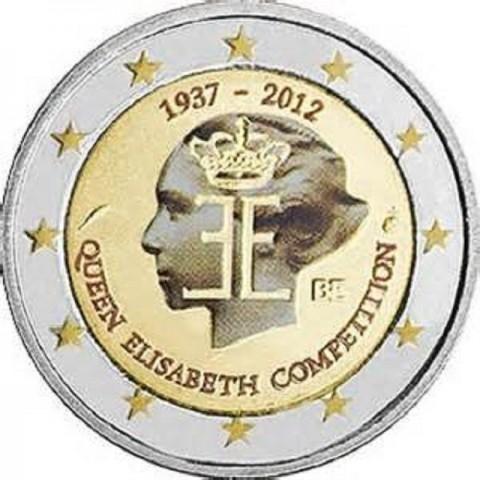 2 Euro Belgicko 2012 - 75. výročie hudobnej súťaže Královnej Alžbety (UNC farebná)