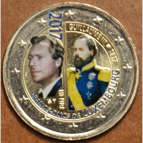 2 Euro Luxembourg 2017 - Grand Duke Guillaume III. II. (colored UNC)