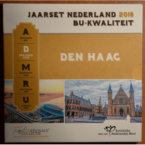 Official set of 8 coins of the Netherlands 2018 - Den Haag (BU)