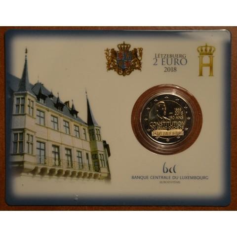 2 Euro Luxembursko 2018 - 150. výročie ústavy (BU karta)