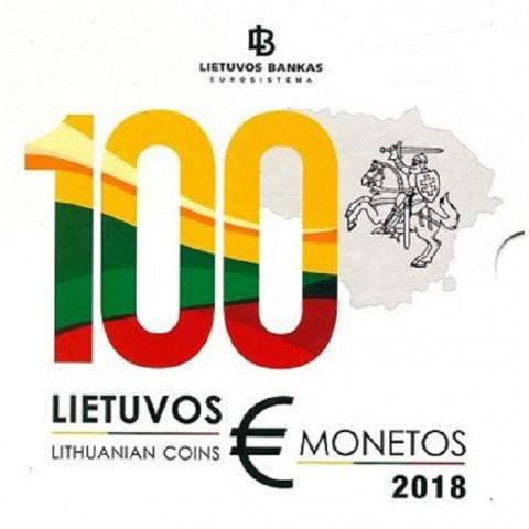Sada 8 Litovských mincí 2018 (BU)