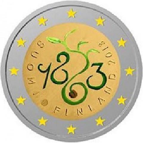 2 Euro Fínsko 2013 - 150. výročie Parlamentu 1863  (UNC)