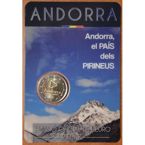2 Euro Andorra 2017 - Pyrenejská krajina (BU karta)