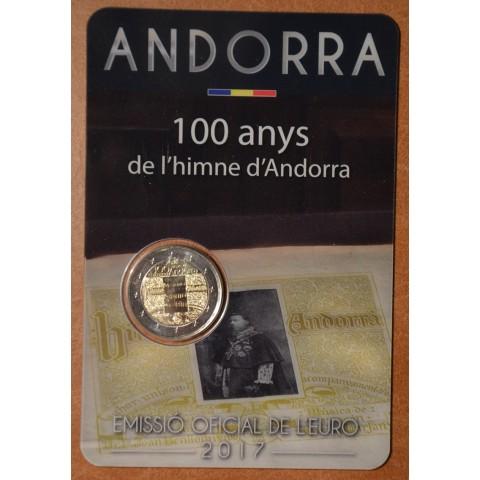 2 Euro Andorra 2017 - 100 rokov hymny (BU karta)