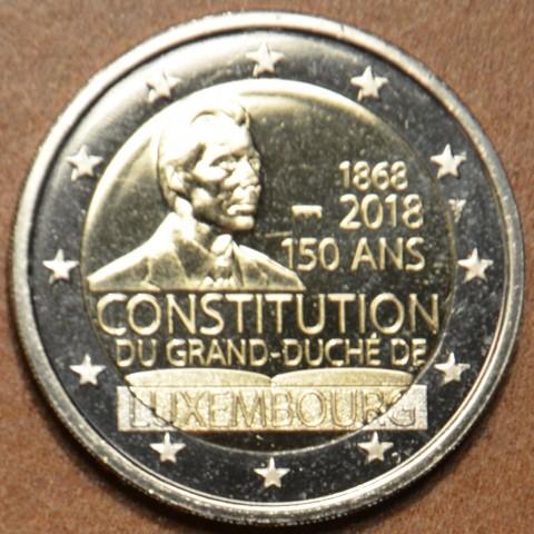 2 Euro Luxembursko 2018 - 150. výročie ústavy - nová značka (BU)