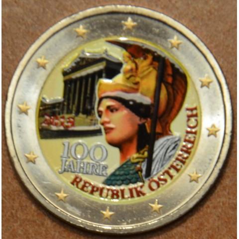 2 Euro Rakúsko 2018 - 100 rokov Rakúskej republiky (farebná UNC)