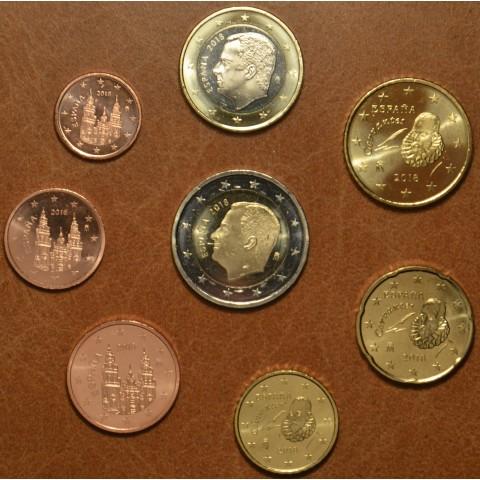 Sada 8 mincí Španielsko 2018 (UNC)