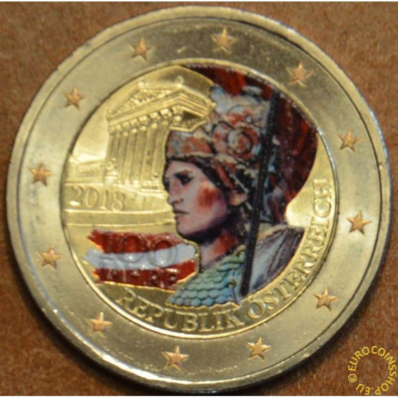 2 Euro Rakúsko 2018 - 100 rokov Rakúskej republiky II. (farebná UNC)