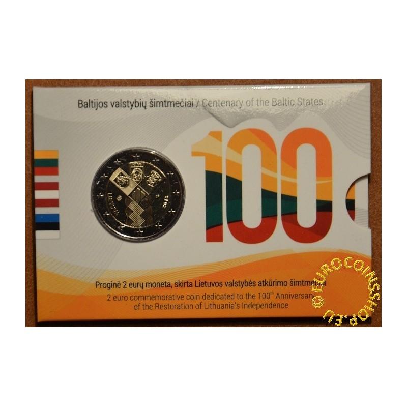 2 Euro Litva 2018 - 100 rokov nezávislosti pobaltských krajín (BU karta)