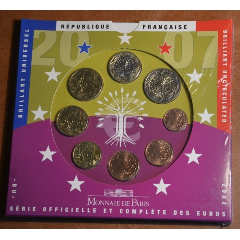 Sada 8 euromincí Francúzsko 2007 (BU)