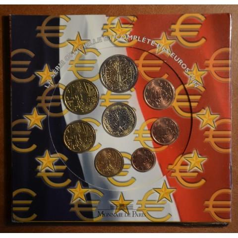 Sada 8 euromincí Francúzsko 2004 (BU)