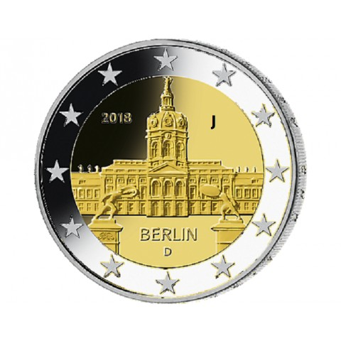"""Predpredaj 2 Euro Nemecko """"J"""" 2018 - Berlin:  Scharlottenburg (UNC)"""