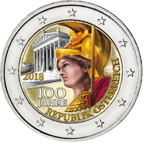 2 Euro Rakúsko 2018 - 100 rokov Rakúskej republiky III. (farebná UNC)