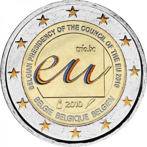2 Euro Belgicko 2010 - Belgické predsedníctvo EÚ (UNC farebná)