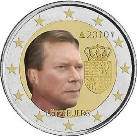 2 Euro Luxembursko 2010 - Erb veľkovojvodu Henriho (UNC)