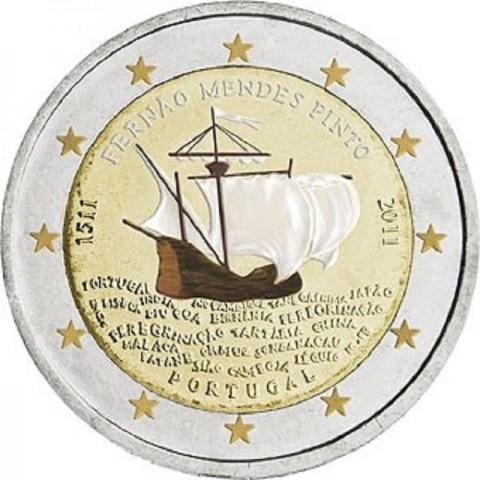 2 Euro Portugalsko 2011 - 500 rokov od narodenia Mendesa Pinta  (UNC)