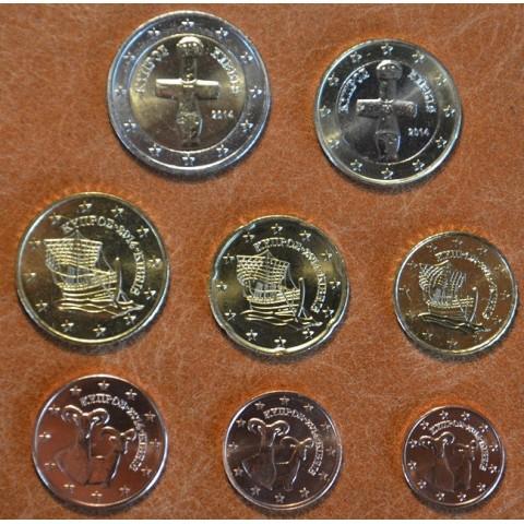 Sada 8 euromincí Cyprus 2014 (UNC)