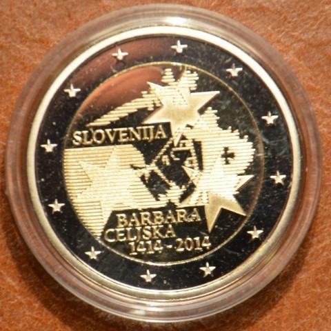 2 Euro Slovinsko 2014 - 600. výročie korunovania Barbory Celjska (Proof)