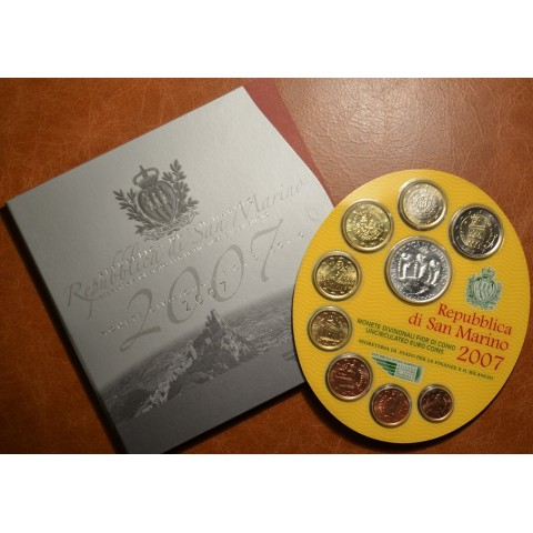 Oficiálna sada 9 mincí San Marino 2007 (BU)