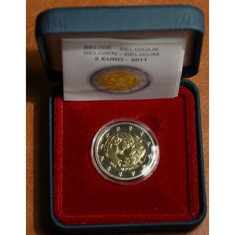 2 Euro Belgicko 2011 - 100. výročie MDŽ  (Proof)