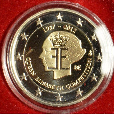 2 Euro Belgicko 2012 - 75. výročie hudobnej súťaže Královnej Alžbety (Proof)