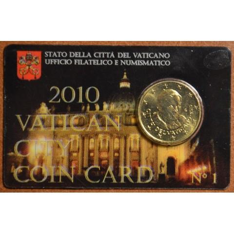 50 cent Vatikán 2010 oficiálna karta No. 1 (BU)