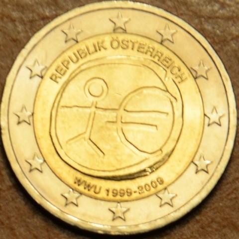 2 Euro Rakúsko 2009 - 10. výročie hospodárskej a menovej únie  (UNC)