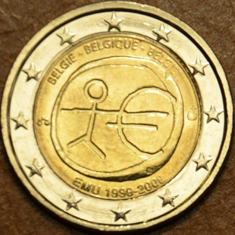 2 Euro Belgicko 2009 - 10. výročie hospodárskej a menovej únie  (UNC)