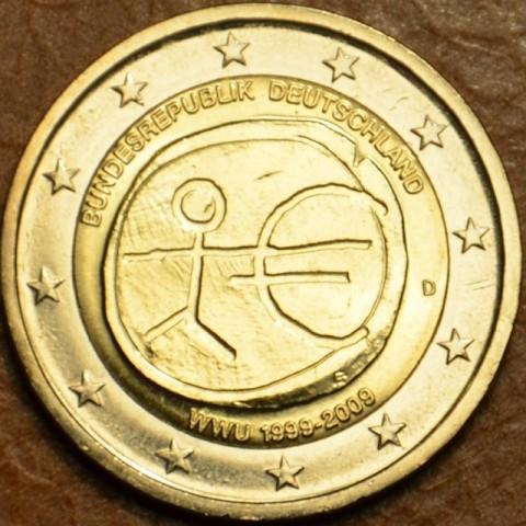 """2 Euro Nemecko """"D"""" 2009 - 10. výročie hospodárskej a menovej únie  (UNC)"""
