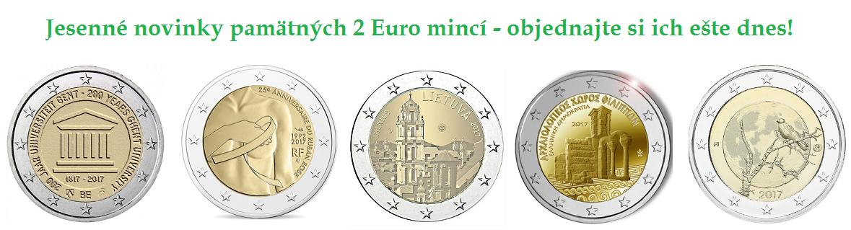 Najnovšie pamätné 2 Euro mince